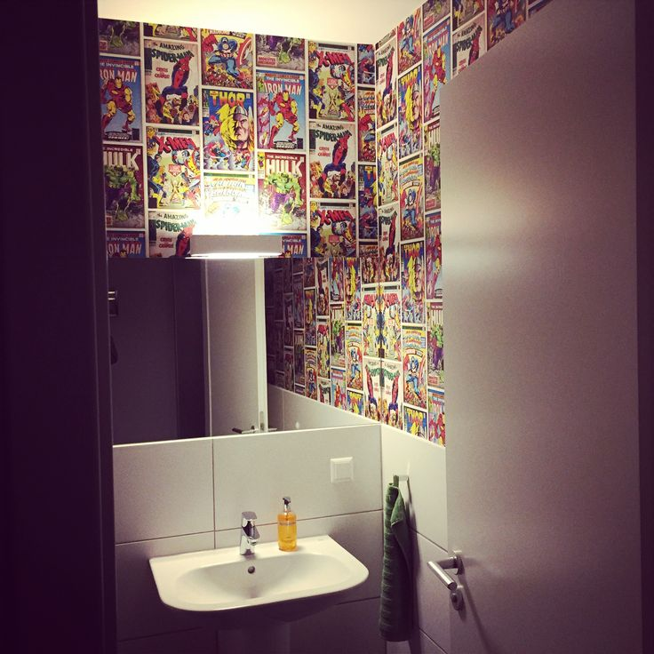 Comic Toilet Marvel Guest Toilet Toilette Wc Design
