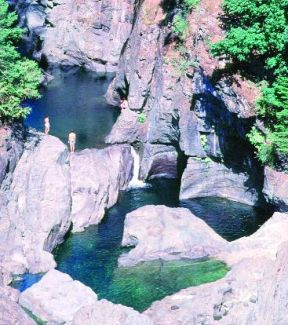 Sooke potholes, this is a pic of dual falls in the summer. the falls are ragin in the winter. Definite spot to go when visiting victoria bc