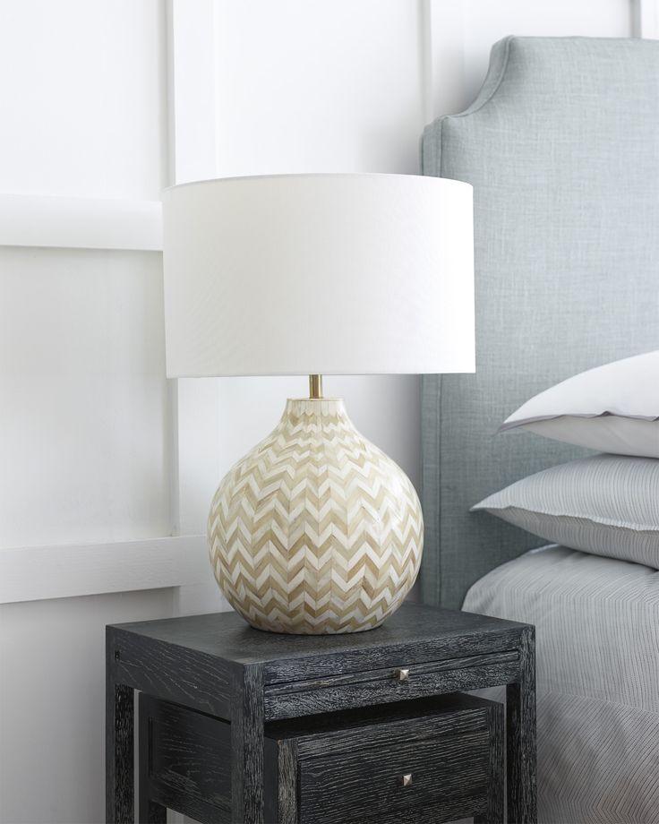 Inlaid Bone Table Lamp