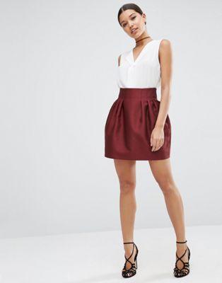 ASOS - Pelmet - Mini-jupe en satin