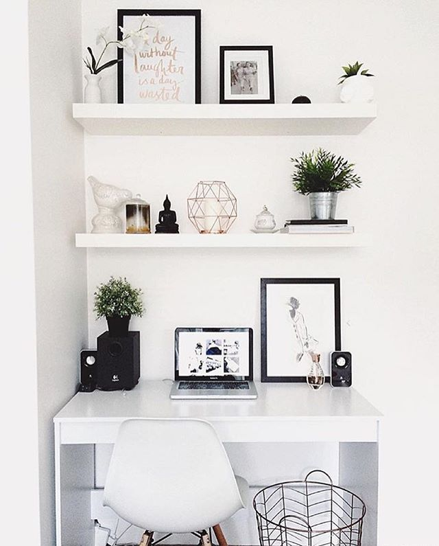 White and black office