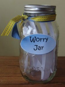 Worry Jar.  Concept I might consider for my excessive worrier.  I admittedly lead with logic before Scripture, but this feels small enough to use as a stepping stone.