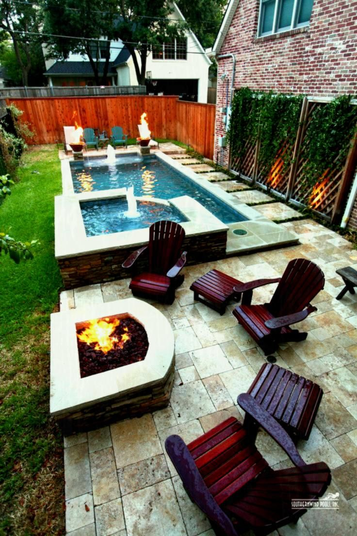 Garden Design Pictures Best Narrow Backyard Ideas On Pinterest Small Yards Pools Small Backyard Pools Small Backyard Landscaping Backyard