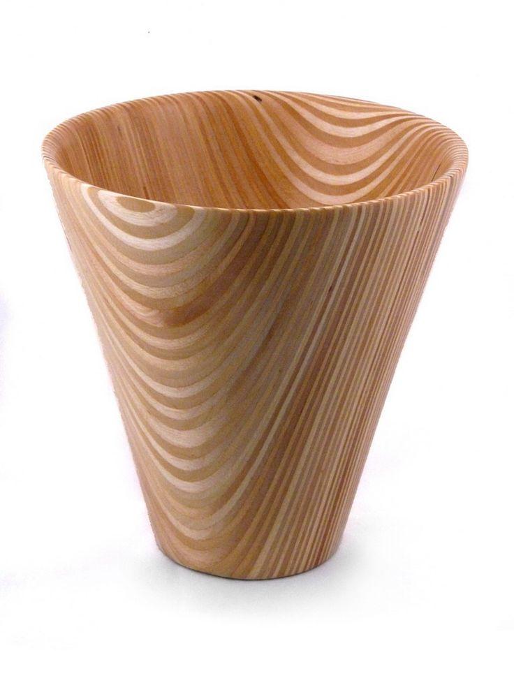 Woodturned Baltic Plywood Vase. www.AATurning.com