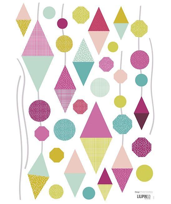 Vinilos decorativos triángulo