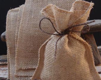 Rustic Wedding Favor Bag Rustic gift bag Custom by FriendlyEvents