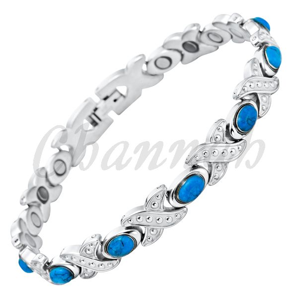 Find More Chain & Link Bracelets Information about Ladies Blue Semi Precious Stones Magnetic Bracelet 2015 Women Turquoise Bio Health Free Shipping via Hong Kong Post Female,High Quality bracelet zipper,China stone cap Suppliers, Cheap stone multicolor from Channah Store on Aliexpress.com