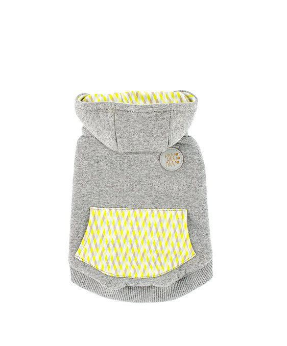 Sniffy's Hoodie in Yellow, 4 sizes, available in PawPawPaw  Etsy Boutique