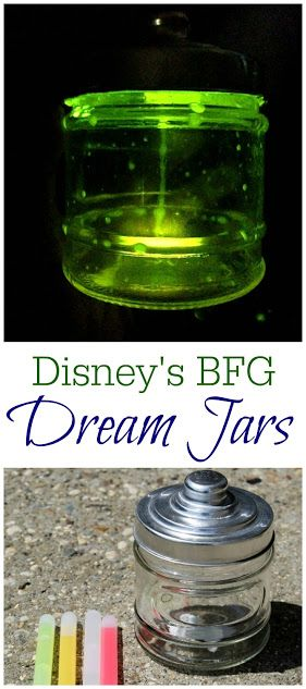 Make these easy DIY Dream Jars inspired by Disney's The BFG! Just 3 items needed, including my free printable jar labels