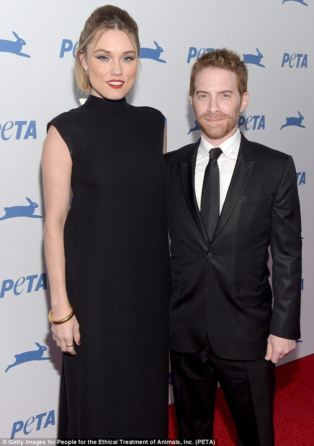 Handcome couple: Actor Seth Green brought his lovely wife Clare Grant...
