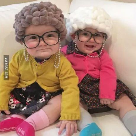 disfraz abuelas bebe