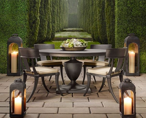1406 best images about outdoor living on pinterest for Restoration hardware outdoor dining