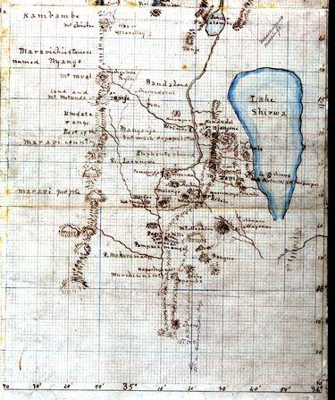 David Livingstone map - See Ambleside Online for biography.