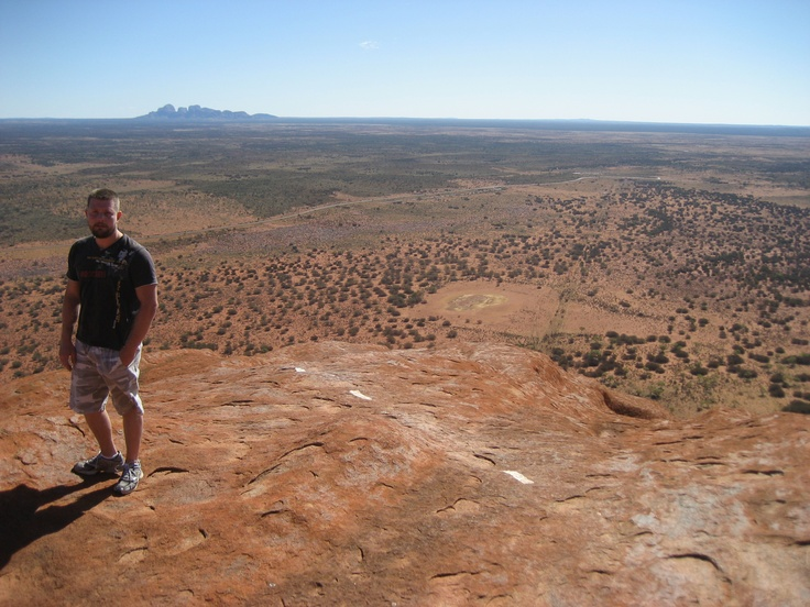 I'm on top of the world, or Ayers Rock :)