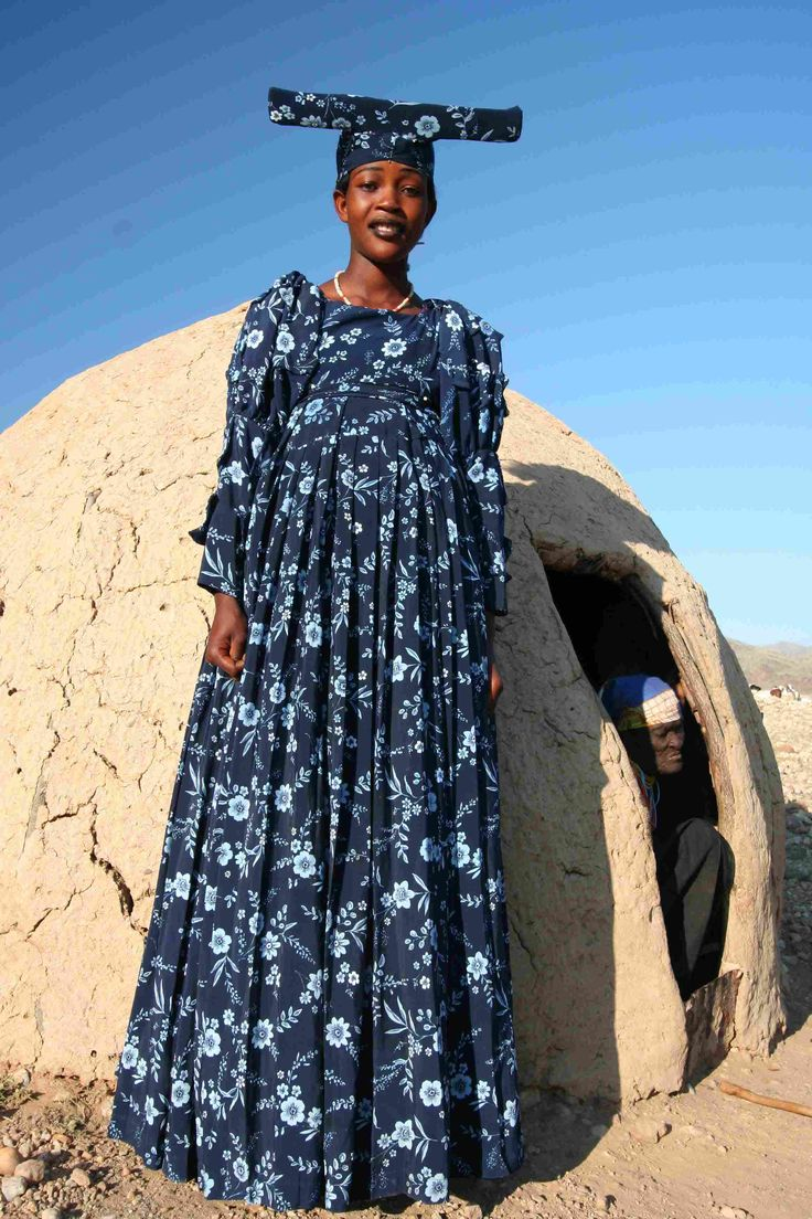 Herero woman. The Herero are an ethnic group inhabiting parts of Southern Africa.