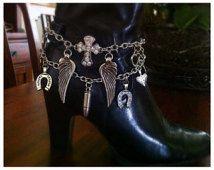 Bracelet de démarrage, Boot Bling, Boot charme, Christian Bracelet, Charm Boot Cowgirl, Cowgirl Boot Bracelet