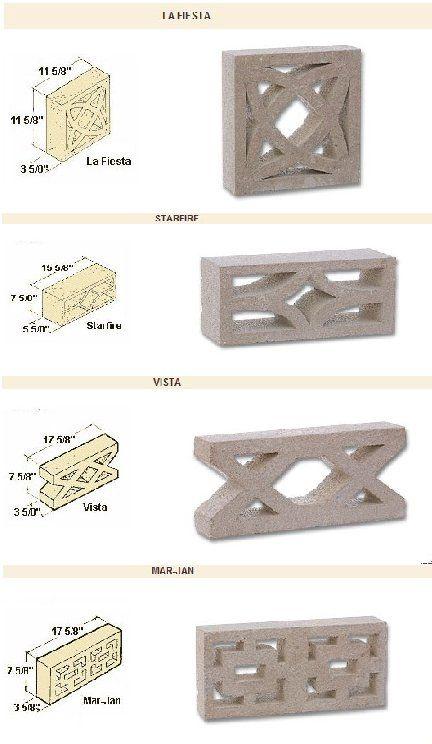 Decorative patterned concrete blocks - Retro Renovation