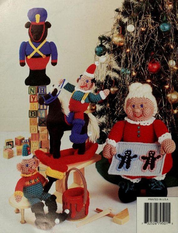 Santa's Workshop 12 Items to crochet knitting pattern at https://www.etsy.com/listing/587287018/santas-workshop-12-items-to-crochet