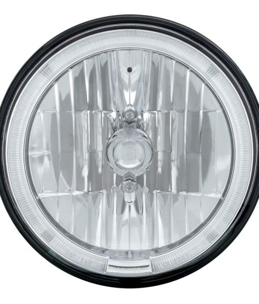 7 Inch Headlight With Led Halo Ring 12 Volt Sealed Beam Headlights Led White Lead