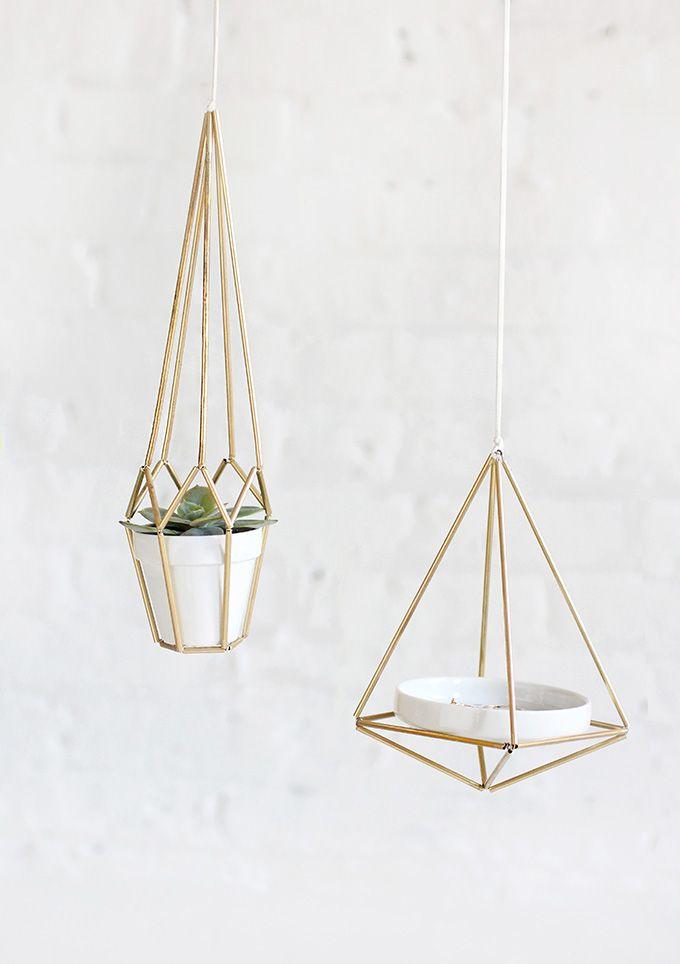 Brass Himmeli Hanger