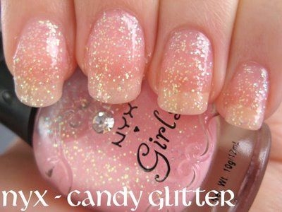 pink nails: Glittery Nails3, Wedding Nails, Color, Soft Pink, Pink Nails, Nailpolish, Glitter Nails, Nails Polish, Sparkle
