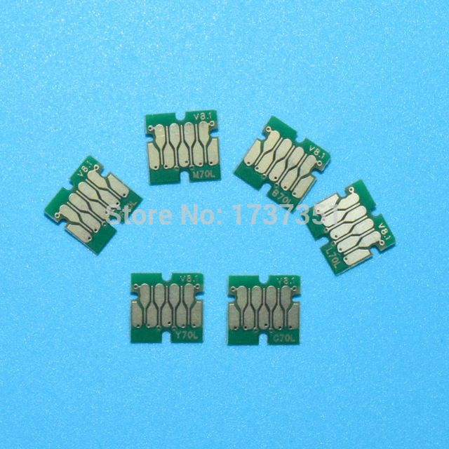 6 color IC80 auto reset chip permanent use for epson EP-977 EP-907