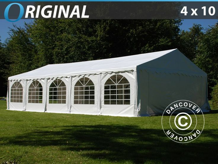 Party Tent Marquee 4x10 PVC. White The perfect setting for a fantastic garden party.