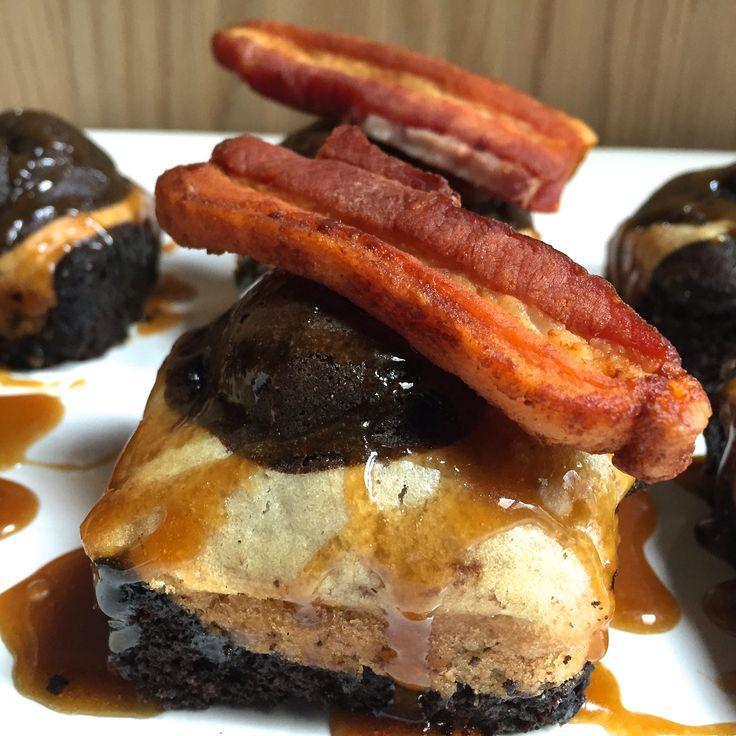 Chocolate Banana Bacon Cakes — GAB EATS recipe