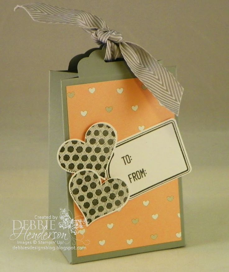 Stampin' Up! Scallop Tag Topper Punch goodie box. Debbie Henderson, Debbie's Designs.