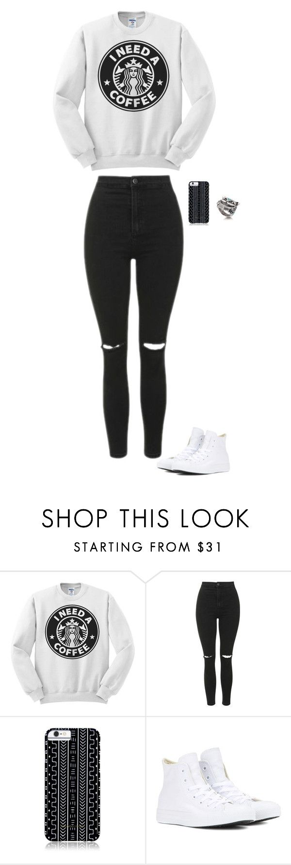 Untitled #182 by sing-into-life on Polyvore featuring Topshop, Converse and Savannah Hayes
