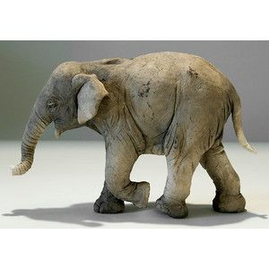 clay elephant | Clay Elephant Sculptures by Nick Mackman