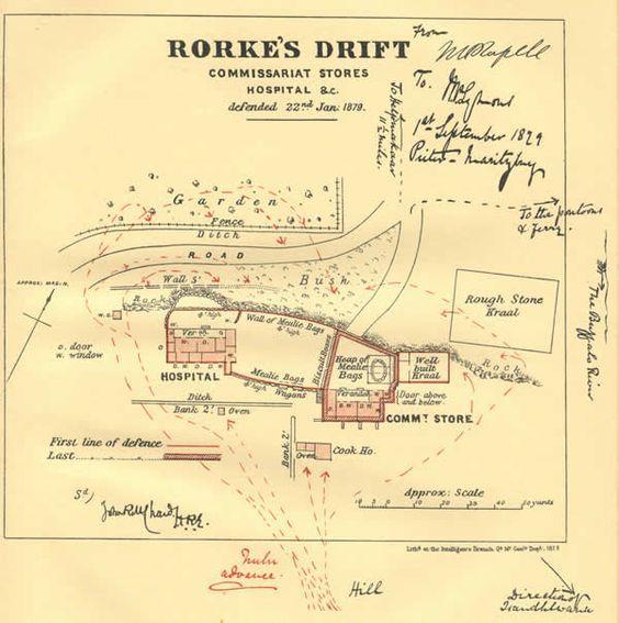 Rorkes Drift Defence Diagram