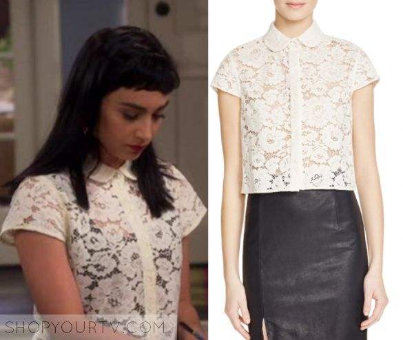 """Last Man Standing: Season 6 Episode 18 Mandy's Lace Collared Shirt 
