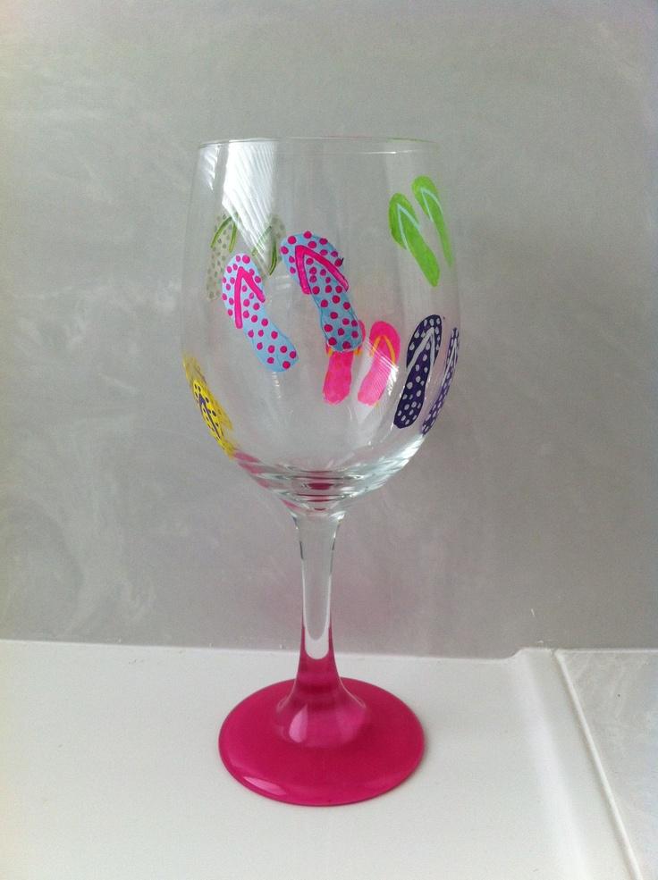 Painted Wine Glasses On Etsy