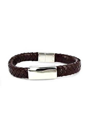 Dparis Braid Raid Magnetic Brown Bracelet