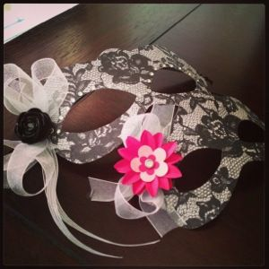 masquerade mask tutorial with pattern