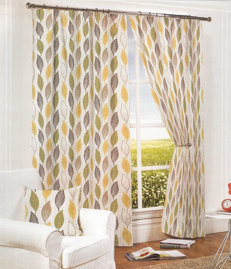 Invigorate your living space with the Leaves Ochre Lined Ready Made Pencil Pleat Curtains. The beautiful tones of yellow and green are complimented by three distinct design patterns of stripes, dashes and dots, creating an intricate design that is simplistic yet complimentary for contemporary or traditional decor. The pencil pleat curtains are available in a range of lengths of widths, with prices starting from £20.