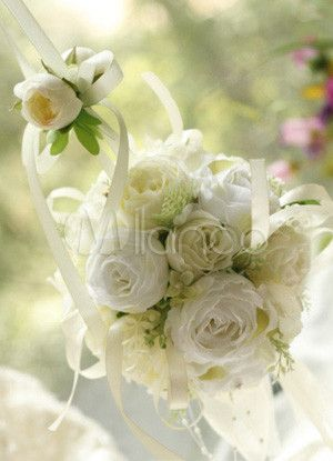[R$63,71] Romântico pano de seda branco pérola fita do casamento punho corpete nupcial