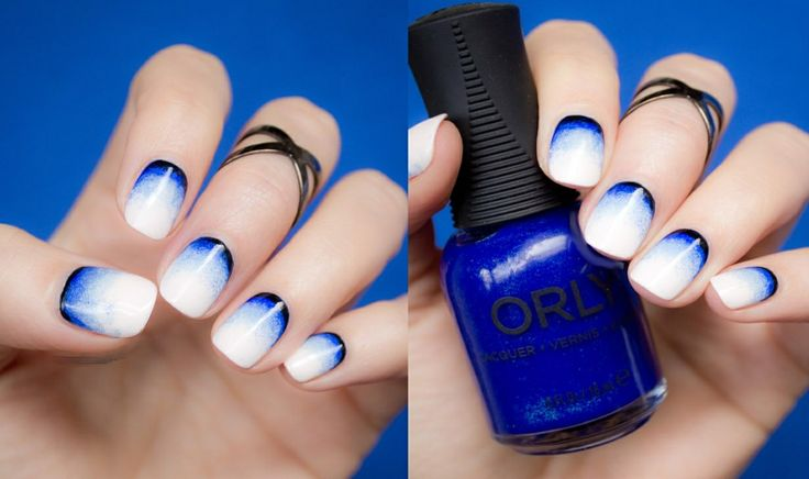 Ombre nails... Woah interesting.