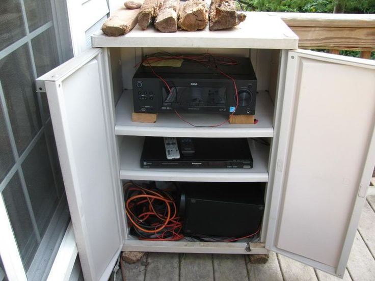 Astonishing Outdoor Waterproof Cabinet For Stereo With Off
