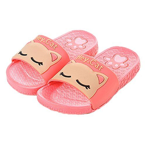 9b139bab9a1b Vokamara 2017 Summer Kid Cat Shoes Antiskid Bathroom Home Indoor Slippers