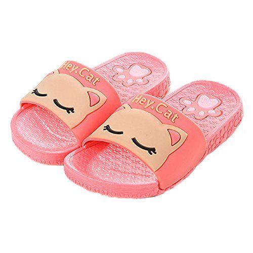 d35ba0ac6 Vokamara 2017 Summer Kid Cat Shoes Antiskid Bathroom Home Indoor Slippers