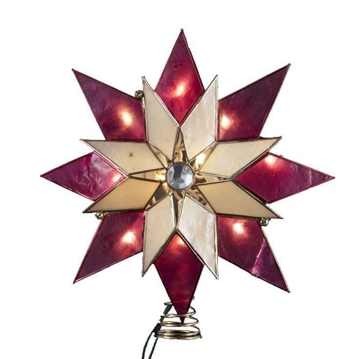 7 best christmas tree star toppers images on pinterest star tree kurt adler 8 point capiz star with gem accent star lighted tree topper junglespirit Image collections