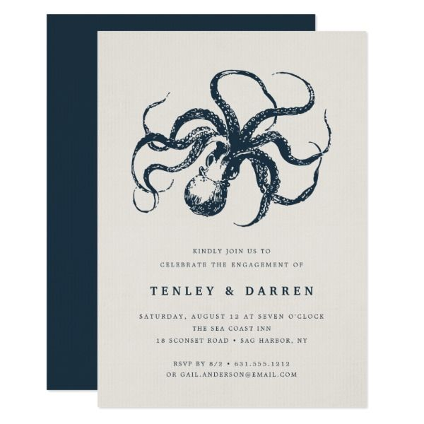 Deep Sea   Engagement Party Invitation Customizable Gifts #beach #summer #party #invitation