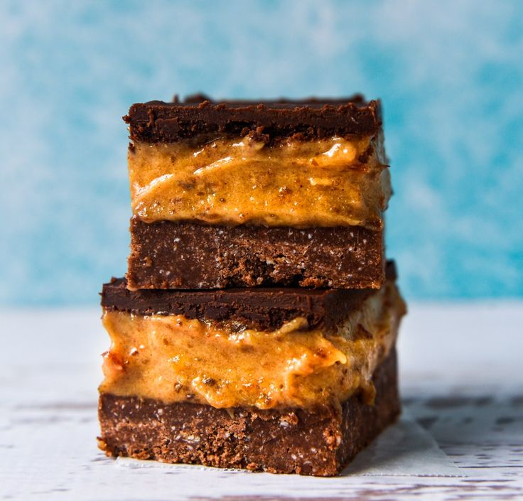 High Protein Salted Caramel Slice. Simple, delicious and free from gluten, grains and refined sugar. Enjoy.
