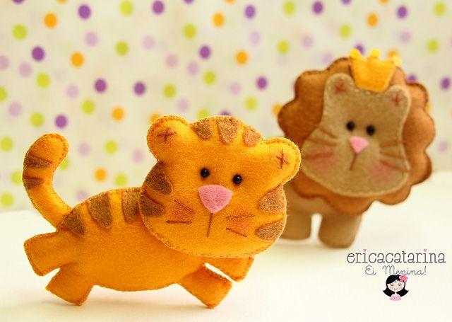 Amiguinhos da selva by Ei menina! - Érica Catarina, via Flickr