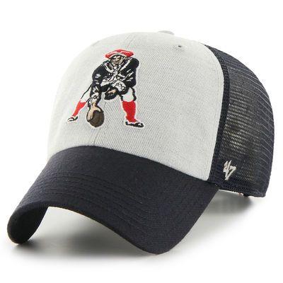 Men's New England Patriots '47 Gray/Navy Legacy Belmont Clean Up Adjustable Hat