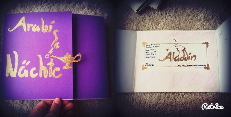 Karte für die beste Merle  # gutschein #aladdin