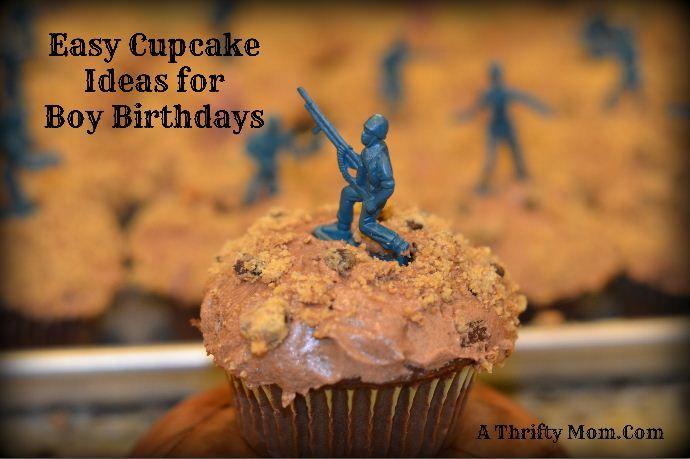 Cupcake ideas for Boys Birthday Party