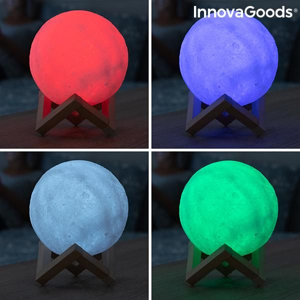 Wiederaufladbare Led Lampe Mond Moondy Innovagoods Trendfact In 2020 Led Lampe Lampe Led